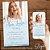 Convite 15 anos Azul Claro Serenity com Foto - Arte Digital - Imagem 1