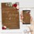 Convite Rústico Madeira Florido Vermelho e Branco - Arte Digital - Imagem 1
