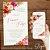 Convite Florido Rosa Terracota e Dourado Aquarela - Arte Digital - Imagem 4