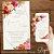 Convite Florido Rosa Terracota e Dourado Aquarela - Arte Digital - Imagem 2