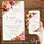 Convite Florido Rosa Terracota e Dourado Aquarela - Arte Digital - Imagem 3