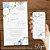 Convite Florido Aquarela  Azul Greenery com Hortência - Arte Digital - Imagem 1
