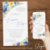 Convite Florido Aquarela Azul e Amarelo - Arte Digital - Imagem 2