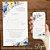 Convite Florido Aquarela Azul e Amarelo - Arte Digital - Imagem 3