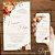 Convite Aquarela Florido Terracota e Dourado - Arte Digital - Imagem 3