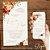 Convite Aquarela Florido Terracota e Dourado - Arte Digital - Imagem 2