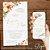 Convite Aquarela Florido Coral e Dourado - Arte Digital - Imagem 3