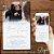 Convite Casamento Azul Serenity com Foto Aquarela - Arte Digital - Imagem 1