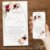 Convite Casamento Florido Marsala e Dourado - Arte Digital - Imagem 3