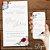 Convite Florido Marsala Azul Serenity e Rosa Aquarela - Arte Digital - Imagem 3