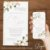 Convite Florido Rústico Dourado Branco, Verde ou Rose - Arte Digital - Imagem 3