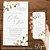 Convite Florido Rústico Dourado Branco, Verde ou Rose - Arte Digital - Imagem 4