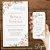 Convite Florido Rose Branco e Dourado - Arte Digital - Imagem 3