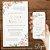 Convite Florido Rose Branco e Dourado - Arte Digital - Imagem 2