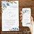Convite Aquarela Azul Florido - Arte Digital - Imagem 1