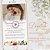 Convite Animado em Vídeo para Casamento Florido Aquarela com Foto - Imagem 1
