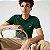 Camiseta Lacoste Jérsei de Algodão Pima com Gola Redonda - Verde Escuro - Imagem 2