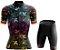 Conjunto Feminino Ciclismo e MTB Vezzo Leaf Color - Imagem 1