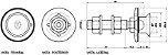 Eixo Rotulado Cônico M14 em Aço Inoxidável AISI 304 - Imagem 4