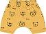Conjunto Bebê Camiseta Bermuda Mini Tiger Roar Amarelo - Imagem 3