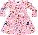 Vestido Infantil Raposinha Rosa Kiko e Kika - Imagem 1