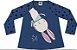 Camiseta Manga Longa Infantil Menina Coelho Stars Kiko Kika - Imagem 1