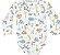 Kit Body Bebê Manga Longa Suedine Dino Baleia Kiko Baby - Imagem 2
