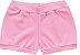3 Cobre Fraldas Shorts Bebê Suedine Tigrinha Amarelo Kiko Baby - Imagem 4