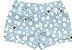 Kit Cobre Fralda Shorts Bebê Abelhinha Little Flowers Azul Kiko Baby - Imagem 2