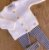 Conjunto Tricot Bebê Menina Trança Madeira Marinho - Imagem 1