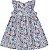 Vestido Infantil Flowers Azul Kiko e Kika - Imagem 1