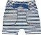 Bermuda Infantil Moletinho Canelado Listras Azul Kiko e Kika - Imagem 1