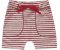 Bermuda Infantil Moletinho Canelado Listras Vermelho Kiko e Kika - Imagem 1
