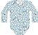Kit Body Bebê Manga Longa Abelhinha Little Flowers Azul Kiko Baby - Imagem 3
