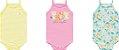 Kit Body Bebê Regata Alcinha Tigrinha Amarelo Kiko Baby - Imagem 1