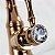 Torneira Misturador Monocomando Bica Baixa Rose Gold Crystal - Imagem 6