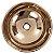Cuba de Apoio Redonda Rose Gold Lavabo 15x40x40cm - Imagem 3