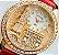 Relógio de Pulso feminino De Couro e cristal - Imagem 1