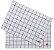 Jogo Americano Quadriculado Gourmet Branco e Preto Pano Urbano 50x35cm - Imagem 1