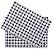 Jogo Americano Gourmet Cruzeta Branco e Preto Pano Urbano 50x35cm - Imagem 2