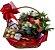 Cesta chá, chocolate e flores - Imagem 1