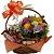 Cesta  flores e gostosuras - Imagem 1