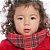 Gola Cachecol Xadrez Vermelha close2u® Baby.&.kids - Imagem 2