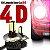 Kit Lâmpada Super Led H4 4d 6000k Carro Alta Baixa 12v 24v - Imagem 1