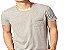 Camiseta Gola Básica Masculina com Bolso Manga Curta - Imagem 1