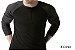 Camiseta Gola Portuguesa (Henley) Modelo 2 Masculina com 3 Botões Manga Raglan Longa - Imagem 1