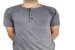 Camiseta Gola Portuguesa (Henley) Patê Colorido Modelo 3 Masculina com 4 Botões Manga Curta - Imagem 3