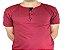 Camiseta Gola Portuguesa (Henley) Patê Colorido Modelo 3 Masculina com 4 Botões Manga Curta - Imagem 2