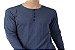 Camiseta Gola Portuguesa (Henley) Masculina com 4 Botões Mescladas Manga Longa - Imagem 3