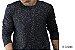 Camiseta Gola Portuguesa (Henley) Masculina com 4 Botões Rajadas Manga Longa - Imagem 1